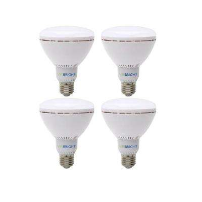 65W Equivalent Warm White (2700K) BR30 Dimmable 90+ CRI Flood LED Light Bulb (4-Pack)
