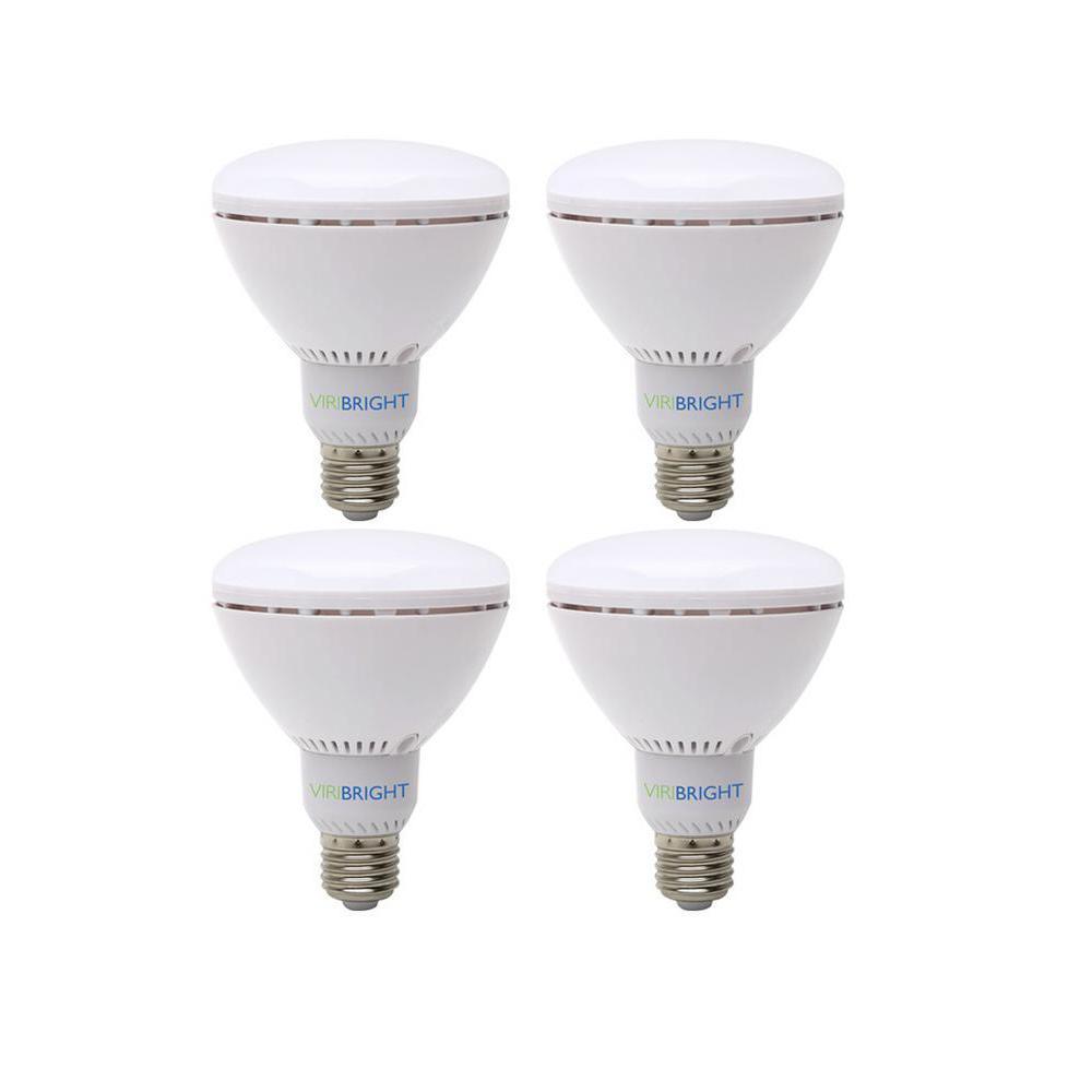 65W Equivalent Warm White (2700K) BR30 Dimmable 90+ CRI Flood LED Light Bulb (4-Pack)