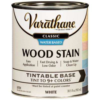 1 qt. Classic White Tint Base Water-Based Interior Wood Stain