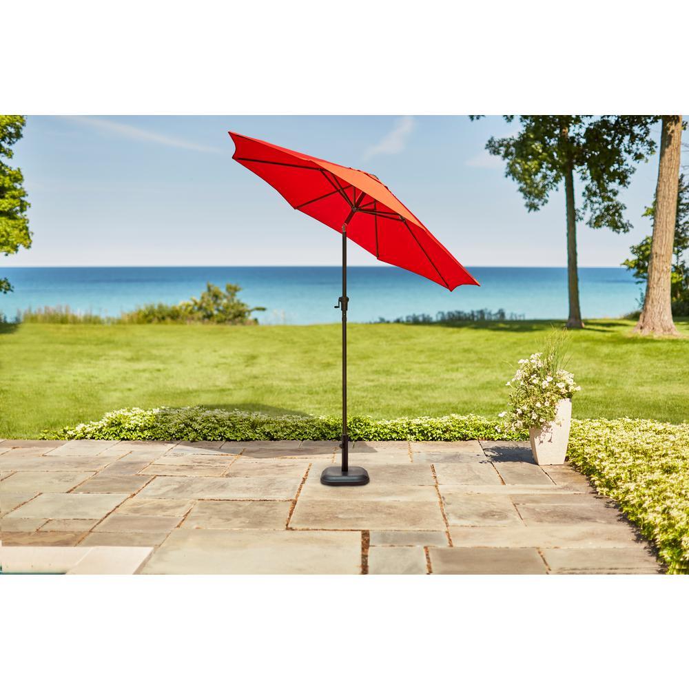 9 ft. Steel Crank and Tilt Patio Umbrella in Ruby