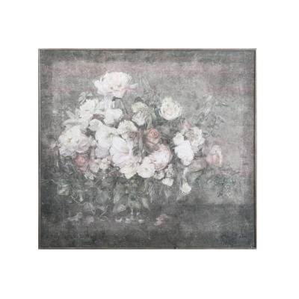 Flower Bouquet Framed Canvas Wall Art