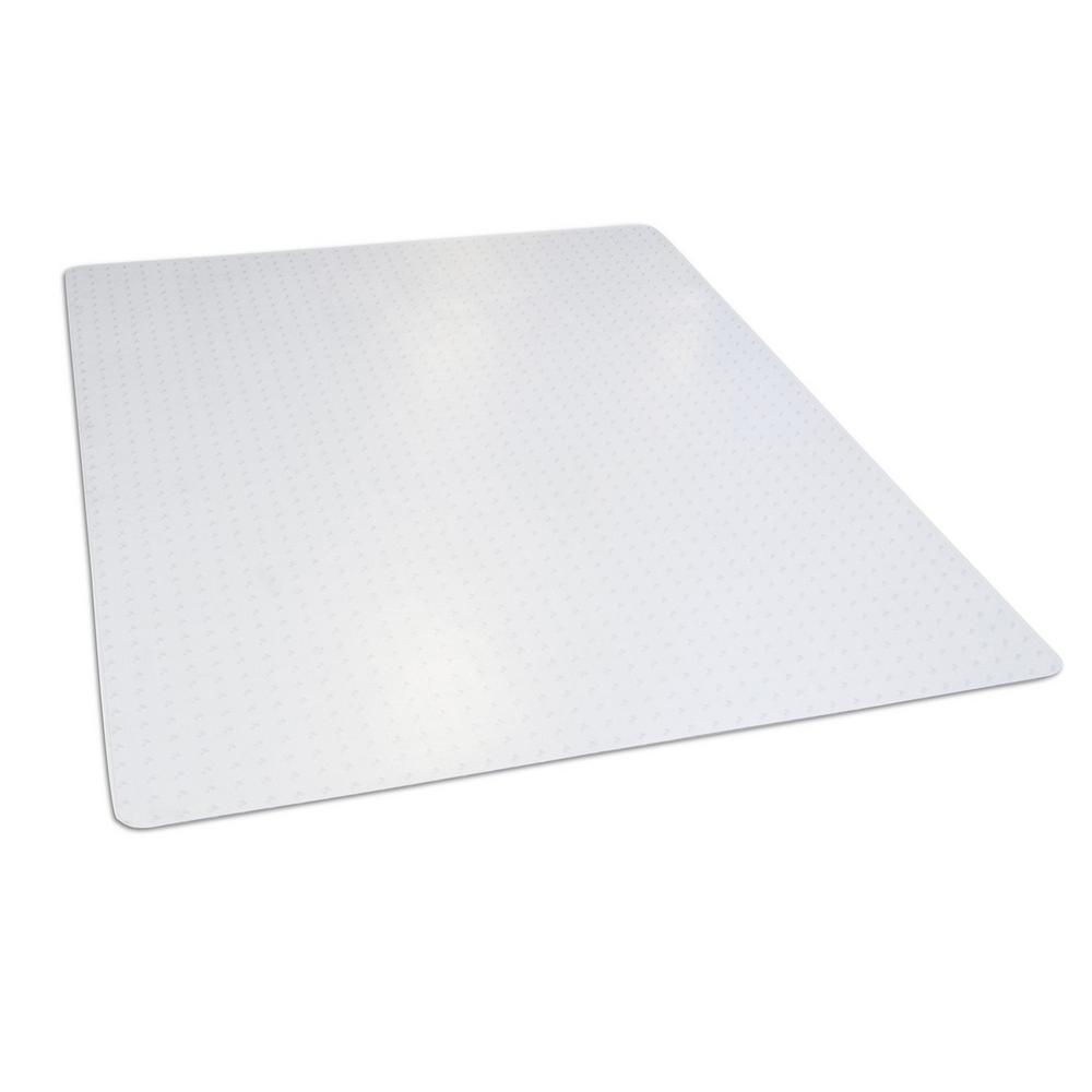46 in. x 60 in. Clear Rectangle Office Chair Mat for