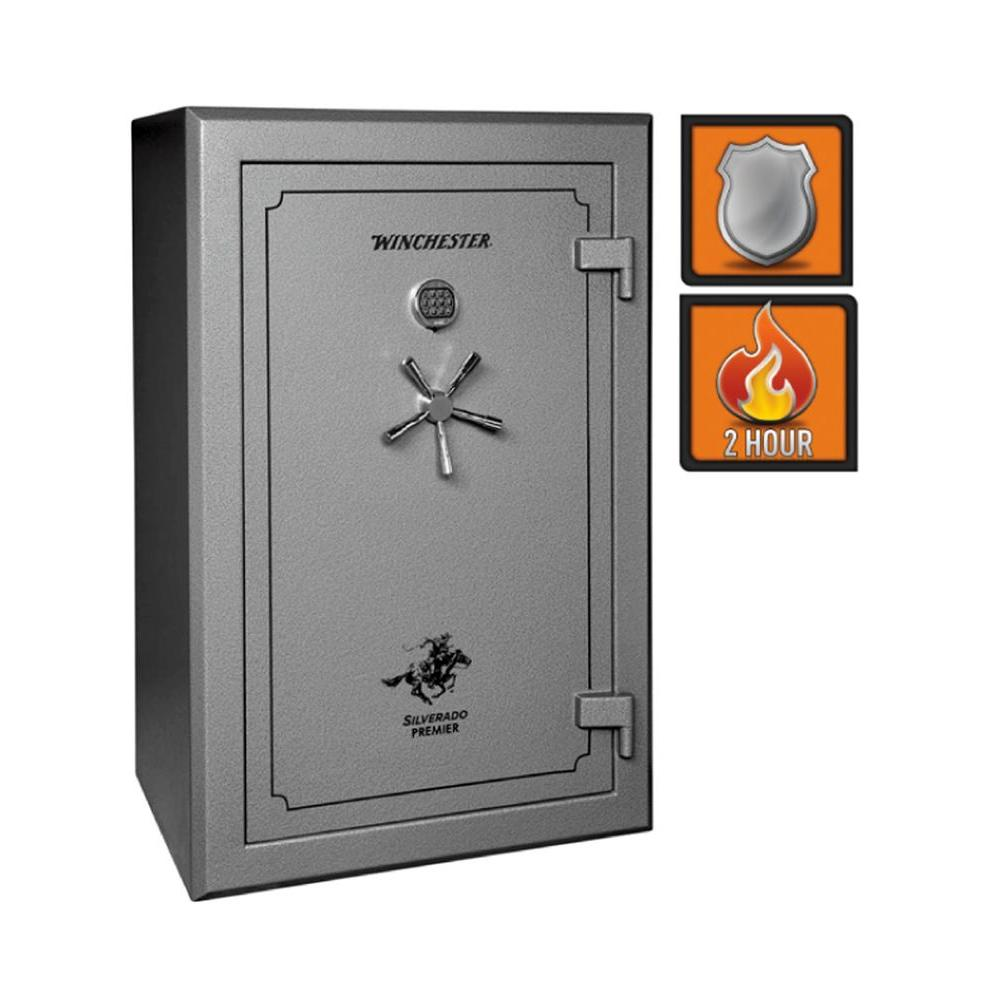 Winchester Safes Silverado Premier 38 51 Gun Granite Gloss Fire-Safe Electronic Lock