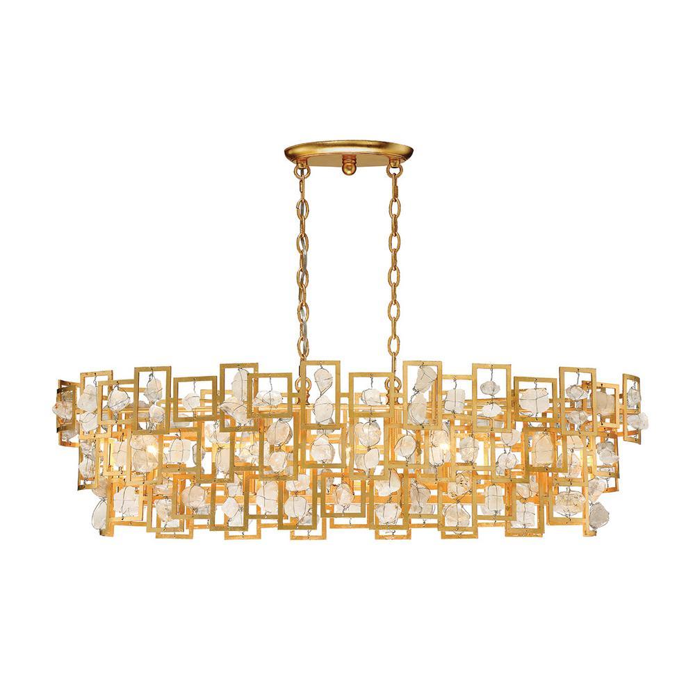 Elrose Collection 5-Light Gold Chandelier