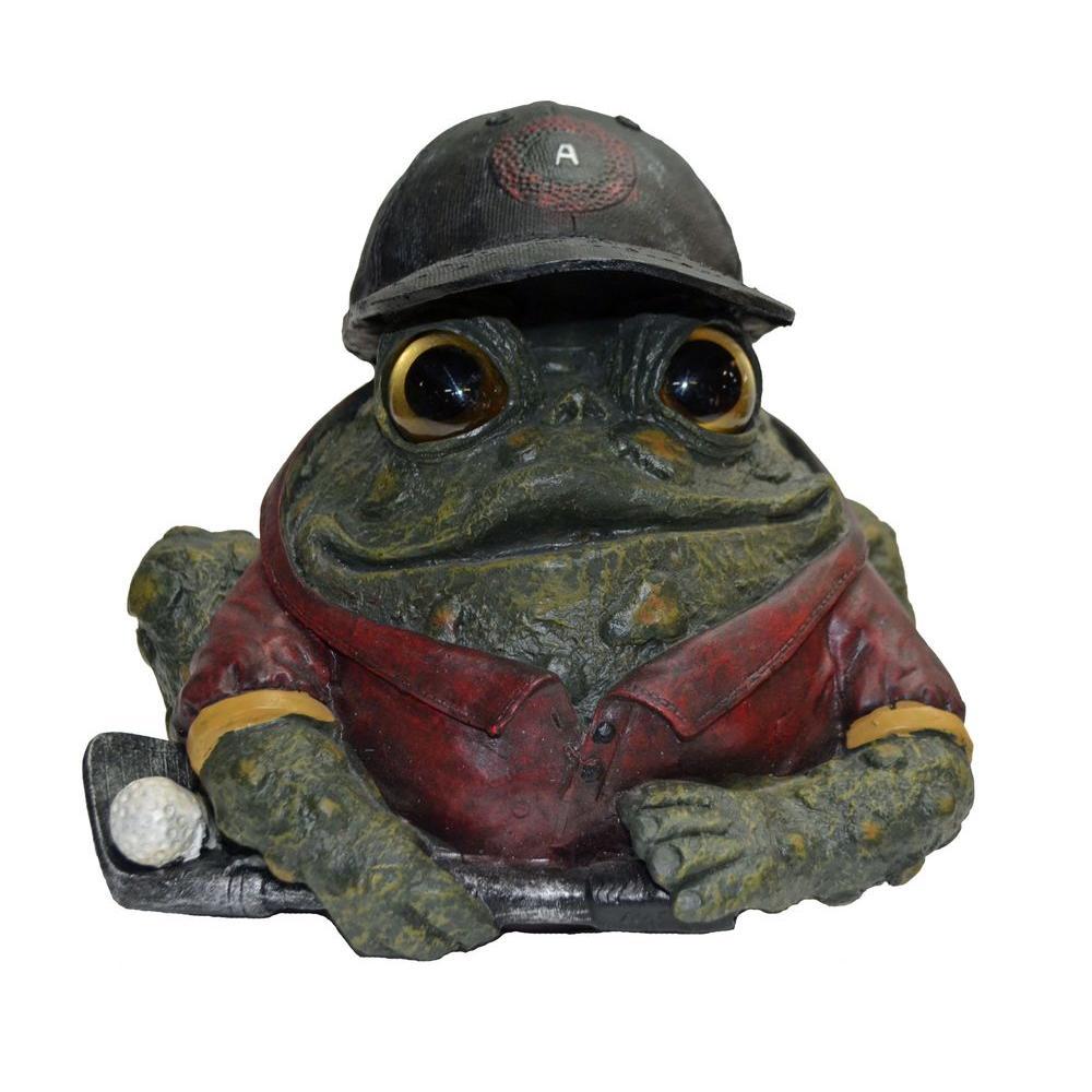 8.5 in. Golfing Toad Garden Statue