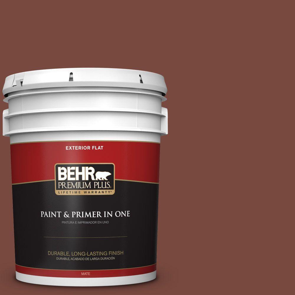 BEHR Premium Plus 5-gal. #200F-7 Wine Barrel Flat Exterior Paint