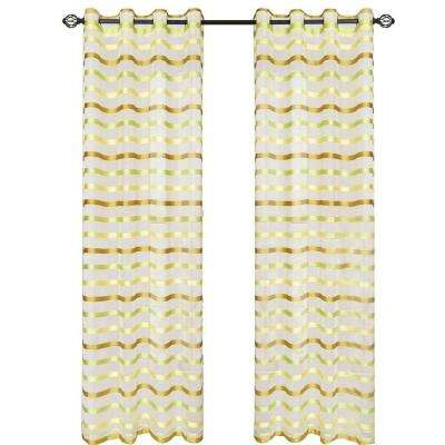 Green Sonya Grommet Curtain Panel, 95 in. Length