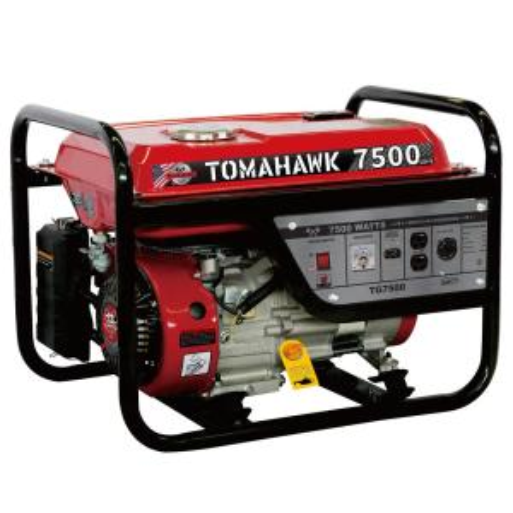 Tomahawk TG7500 6500-Watt Gas Powered Recoil Start Portable Generator with 13 HP Engine by Tomahawk