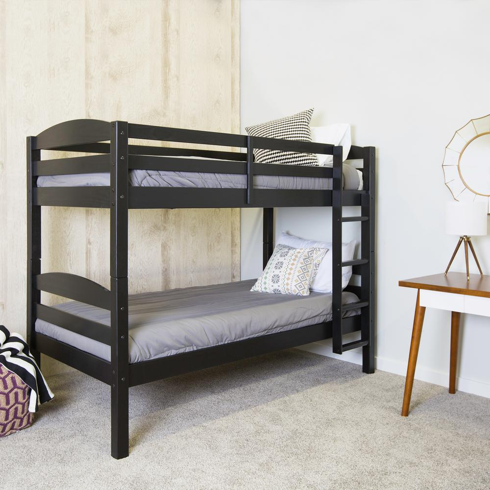 Walker Edison Furniture Company Carolina Twin Over Twin Wood Bunk Bed Hdwstotbl The Home Depot