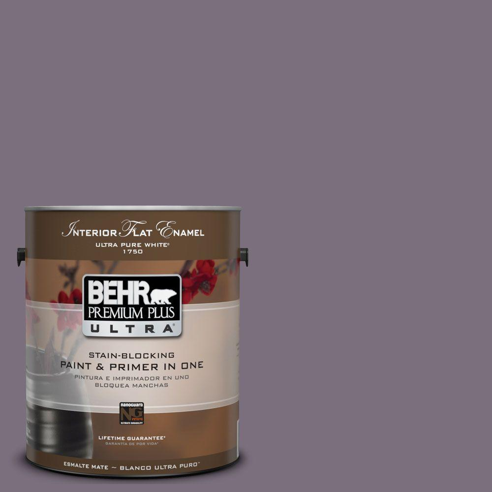 BEHR Premium Plus Ultra 1-Gal. #UL250-20 Plum Shadow Interior Flat Enamel Paint