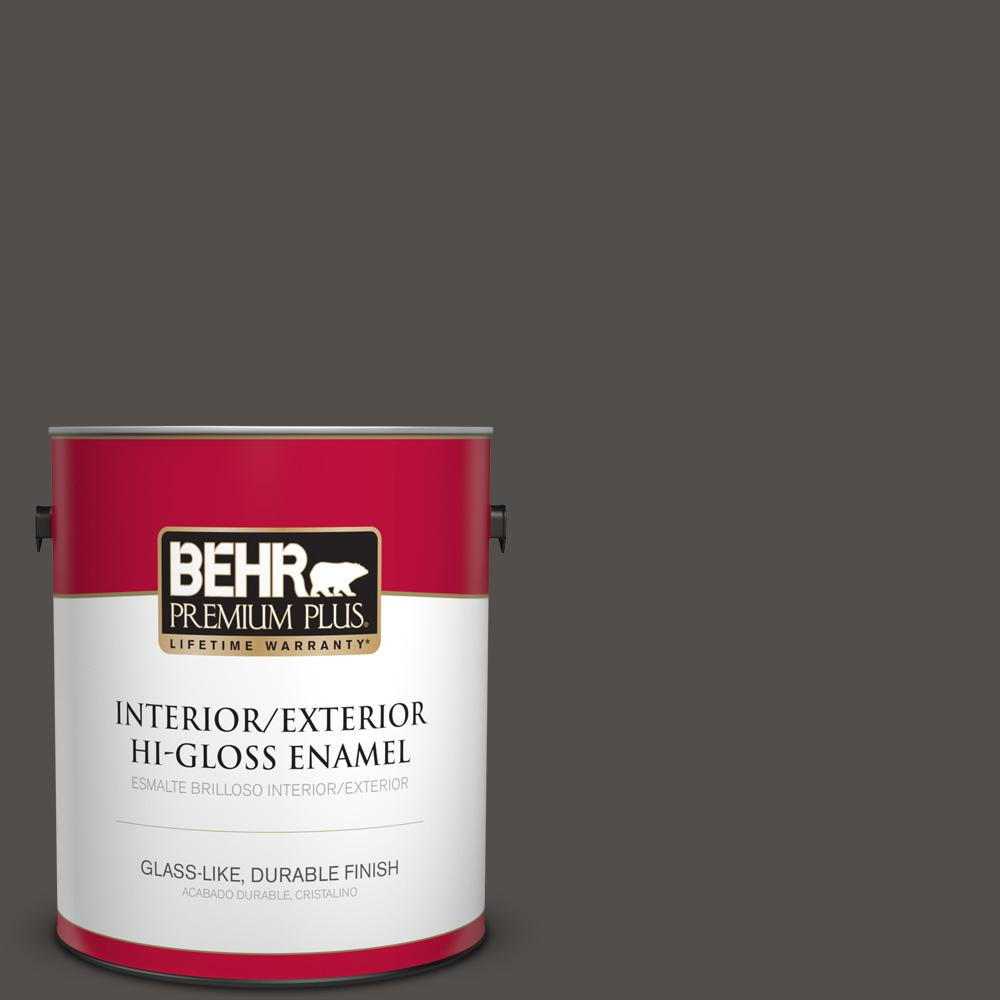 1 gal. #PPU24-02 Berry Brown Hi-Gloss Enamel Interior/Exterior Paint