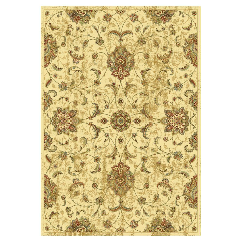 Kas Rugs Pleasant Mahal Ivory 3 ft. x 5 ft. Area Rug The Kas Rugs 3 ft. x 5 ft. Area Rug will radiate warmth and charm in any room. This rug has stain-resistant fabrics and fade-resistant materials. It has an oriental motif, which offers an ornate appearance to your home design with a classic sophistication. Designed with ivory features, it will tone down your decor. It has a 100% viscose construction, providing both style and unbeatable comfort to your house.