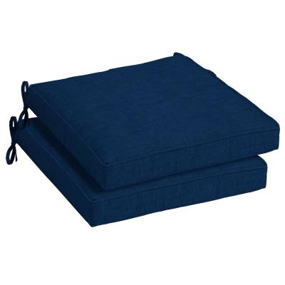 21 x 21 Sapphire Leala Texture Square Outdoor Seat Cushion (2-Pack)