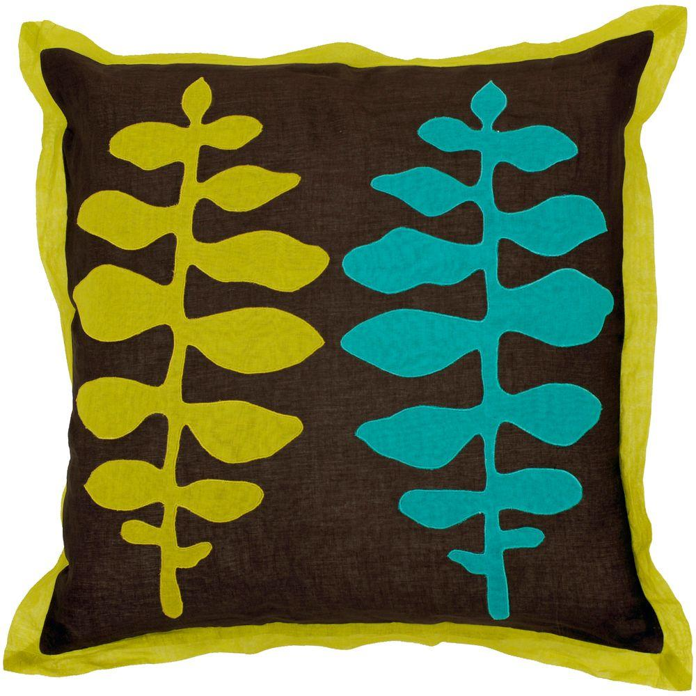 Artistic Weavers LeavesC 18 in. x 18 in. Decorative Down Pillow-DISCONTINUED