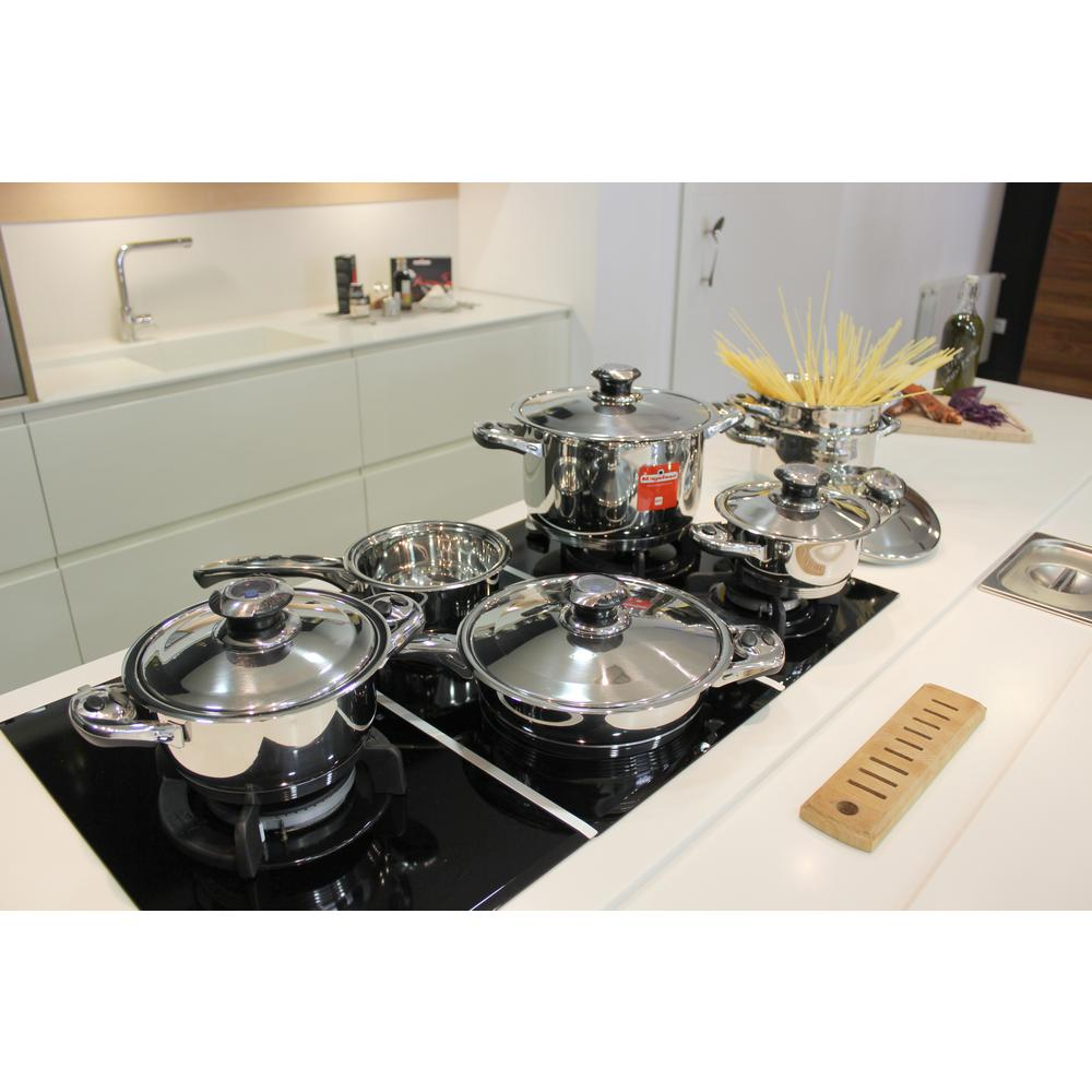 Magefesa Ecotherm 12-Piece Stainless Steel (Silver) Cookw...