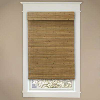 Cordless Honey Bamboo Roman Shade - 57.5 in. W x 48 in. L (Actual Size 57 in. W x 48 in. L)