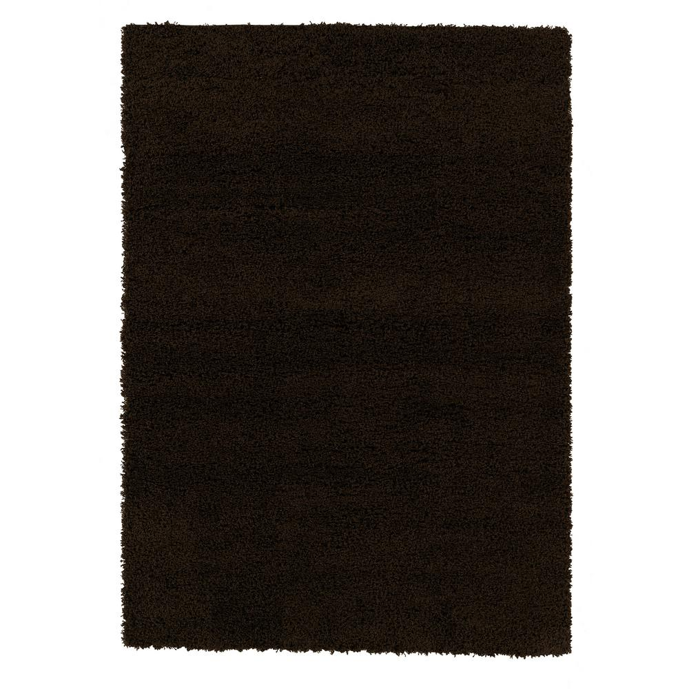 Ottomanson Shag Collection Brown 7 ft. x 9 ft. Area Rug was $134.02 now $100.52 (25.0% off)