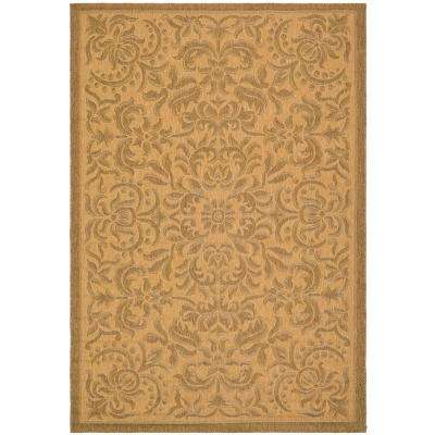 Courtyard Natural/Gold 9 ft. x 12 ft. Indoor/Outdoor Area Rug