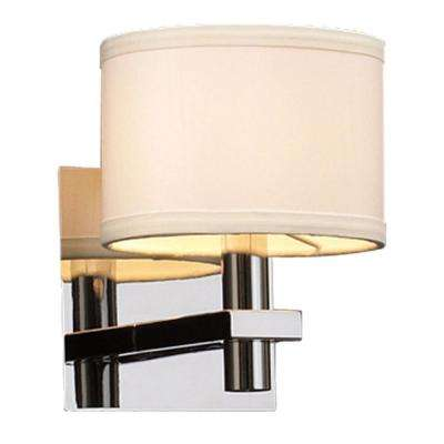 Contemporary Beauty 1-Light Polished Chrome Halogen Sconce