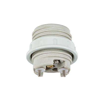 1-1/2 in. Porcelain Threaded Socket with Metal Shade Ring
