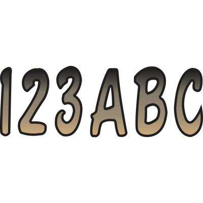 Series 200 Registration Kit Cursive Font with Top to Bottom Color Gradations in Brown/Black