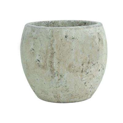 5-3/4 in. Round Cement Pot