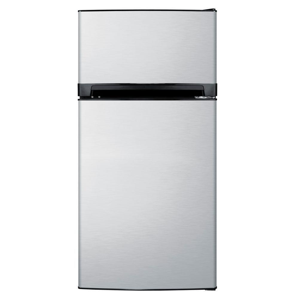Summit Appliance 10 cu. ft. Top Freezer Refrigerator in Stainless Steel