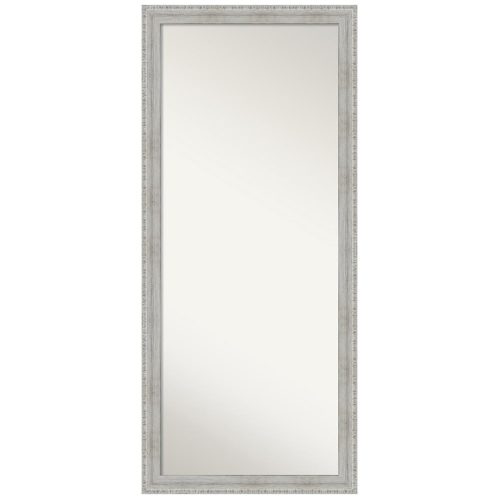 Amanti Art Rustic White Wash 28.38 in. x 64.38 in. Decorative Floor / Leaner Mirror was $569.95 now $284.97 (50.0% off)