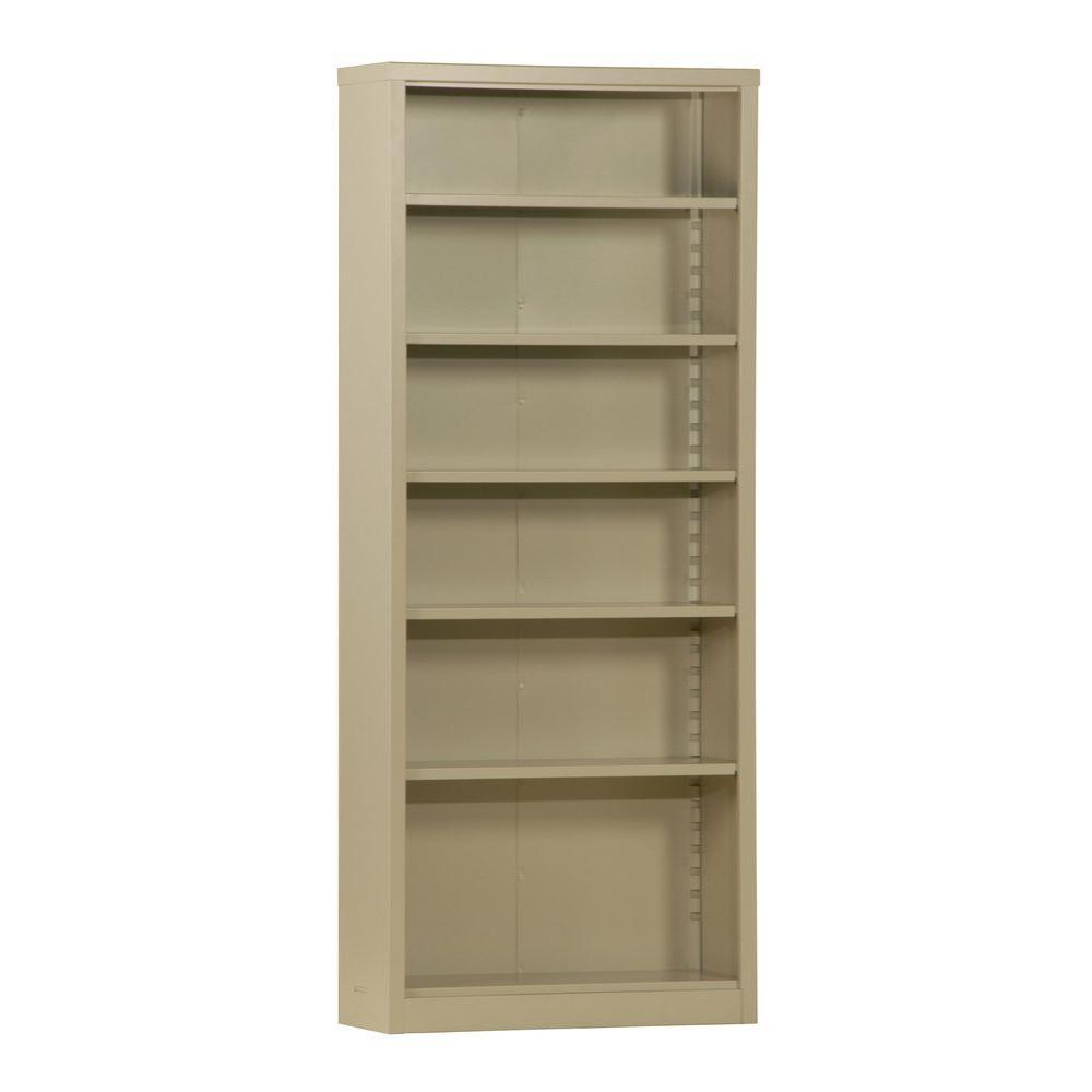 Sandusky Putty Steel Bookcase