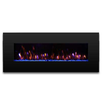 Reflektor 58 in. 1400W Electric Fireplace Wall Mounted with 7-Color Flame Effects and Remote Control