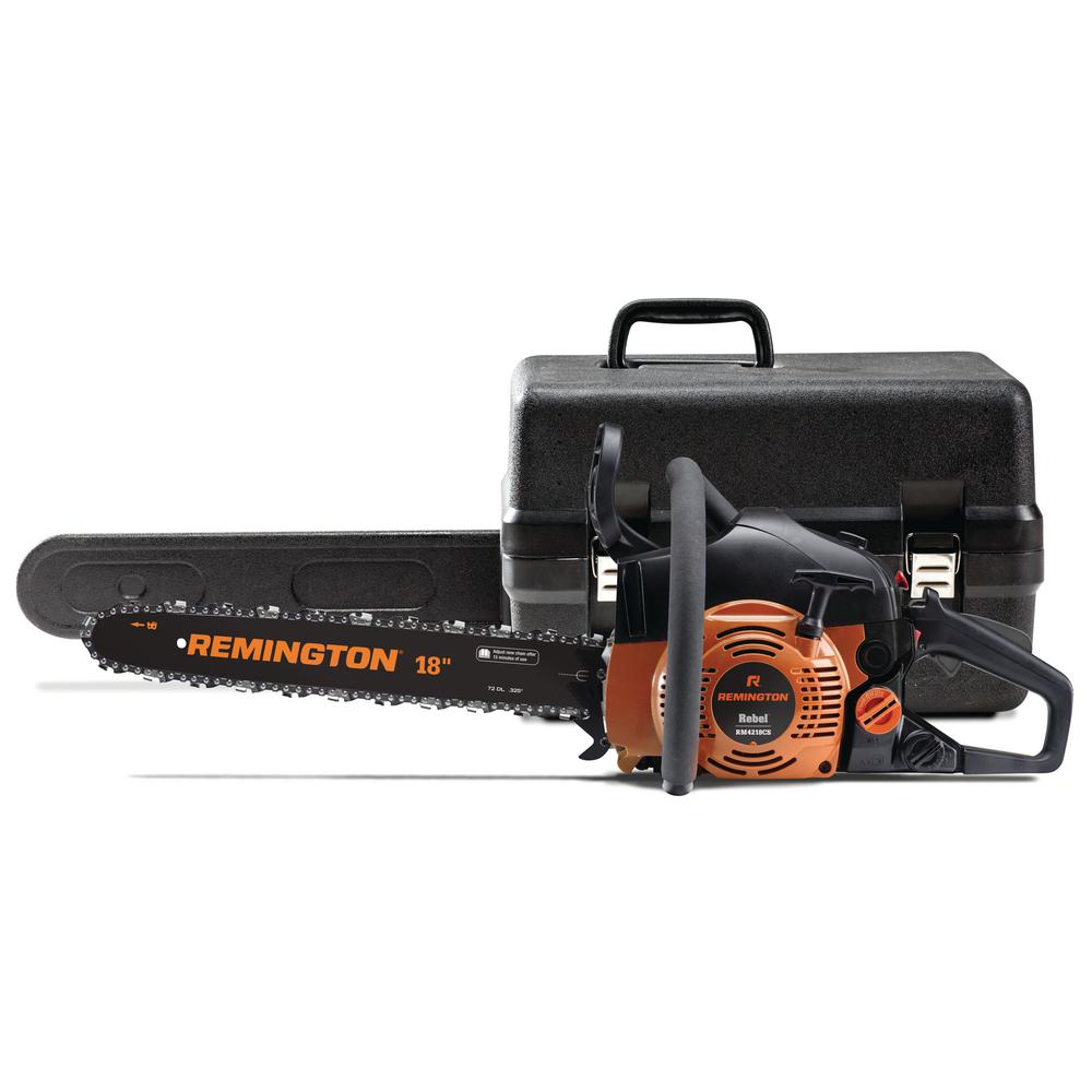 Remington Rebel 18 in. 42 cc Gas 2-Cycle Chainsaw with Automatic Chain Oiler and Heavy-Duty Carry Case Included