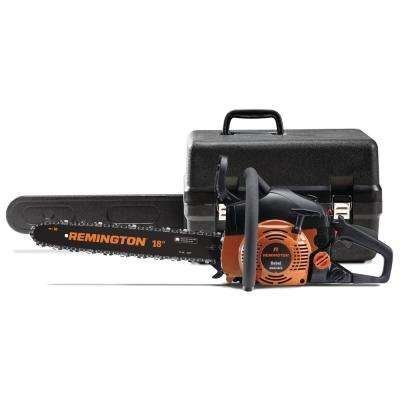 Rebel 18 in. 42 cc Gas 2-Cycle Chainsaw with Automatic Chain Oiler and Heavy-Duty Carry Case Included