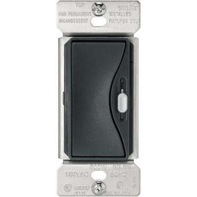 Aspire 600-Watt Slide Dimmer with Preset in Silver Granite