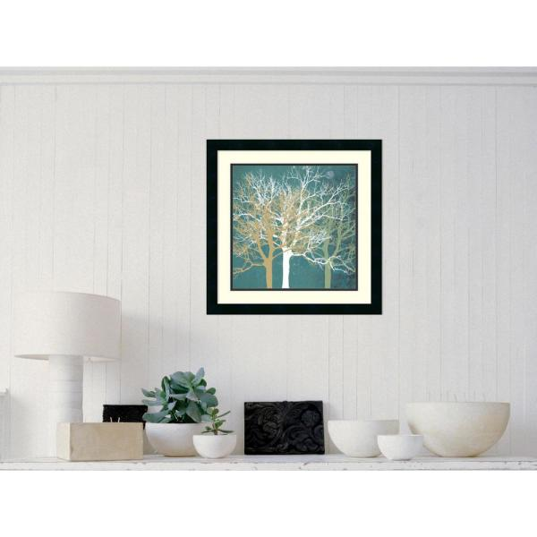 """Amanti Art 22 in. W x 22 in. H """"Tranquil Trees"""" by Erin Clark Framed Art Print"""