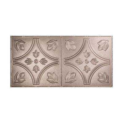 Traditional 5 - 2 ft. x 4 ft. Glue-up Ceiling Tile in Galvanized Steel