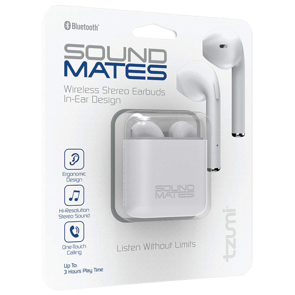 wholesale dealer bc3bc b44d0 Tzumi SoundMates Bluetooth Earbuds with Protective Charging Case