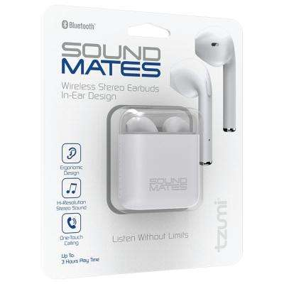 SoundMates Bluetooth Earbuds with Protective Charging Case