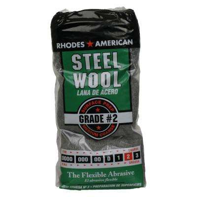 #2 12 Pad Steel Wool, Medium Coarse Grade
