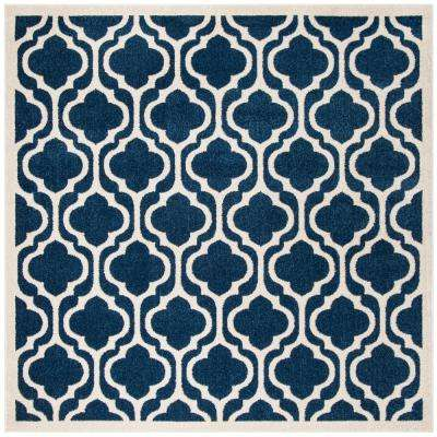 Amherst Navy/Beige 7 ft. x 7 ft. Indoor/Outdoor Square Area Rug