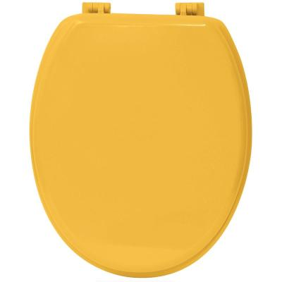 Oval Closed Front Toilet Seat in Yellow