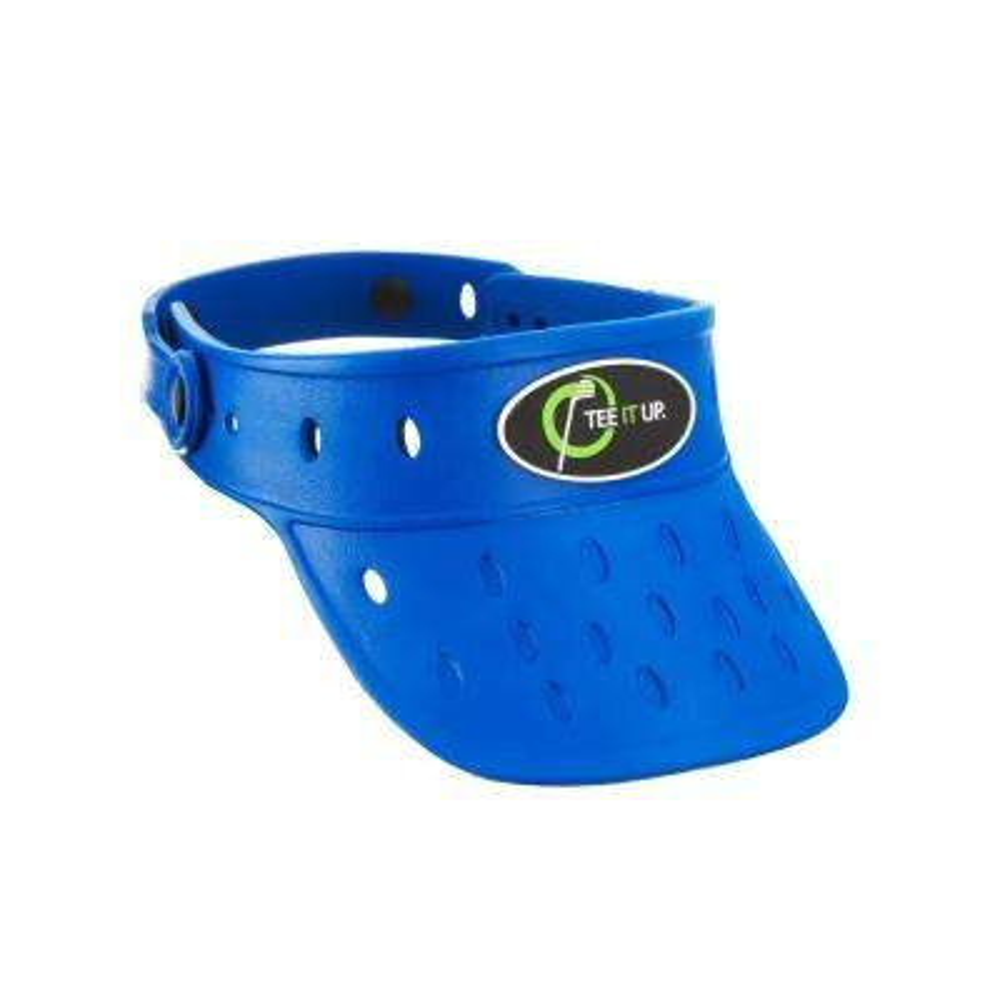 Protactive Blue Foam Hat Visor Plastic Button Adjustable Lightweight Durable Anti Mold Removable Rubber Logo Float