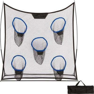 6.9 ft. Portable Football Training Net with 5 Targets and Carry Bag