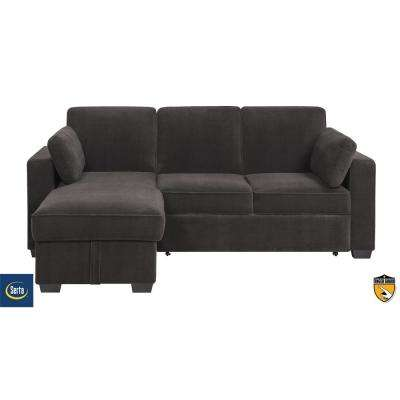 Charlie Grey Convertible Sectional Sofa