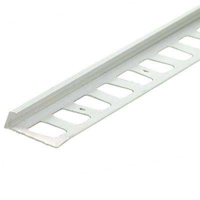 Satin Clear Anodized 3/8 in. x 96 in. L-Shape Tile Edging Strip