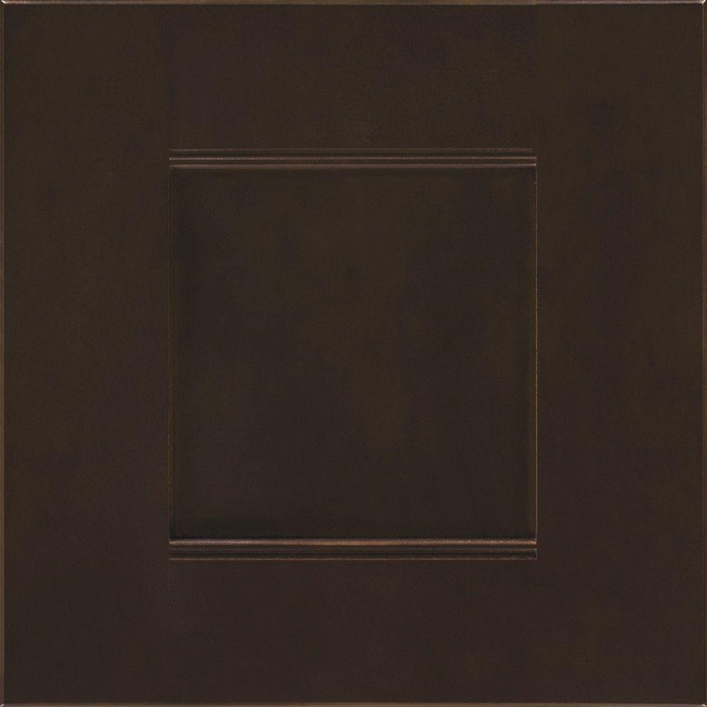 Martha Stewart Living 14.5x14.5 in. Cabinet Door Sample in Dunemere Bridle Brown