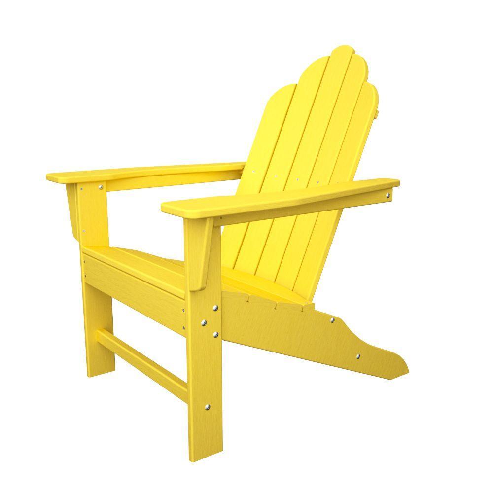 Long Island Lemon Plastic Patio Adirondack Chair