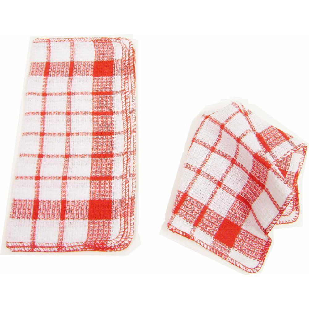 home basics waffle 32-piece weave dish cloth set-h41234a - the