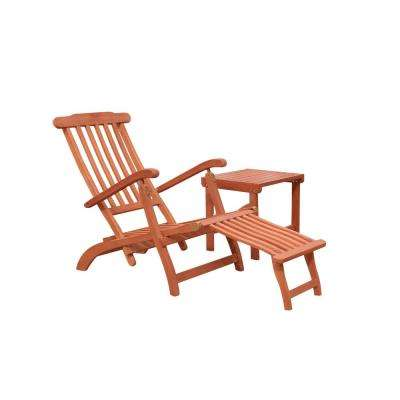 Malibu 2-Piece Wood Outdoor Chaise Lounge