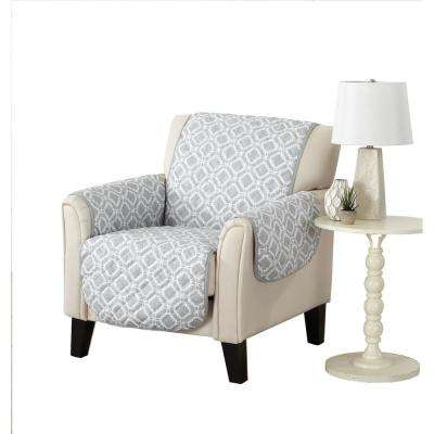 Liliana Collection Storm Grey Printed Reversible Chair Furniture Protector