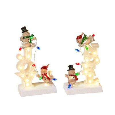 9 in. H Assorted Lighted Figurines (2-Set)